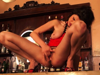 Asian Squirting In Bar